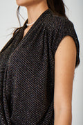 Wrap Front Gitter Top Ex Brand-Fabulous Bargains Galore