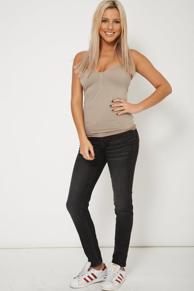 Black Straight Leg Casual Jeans
