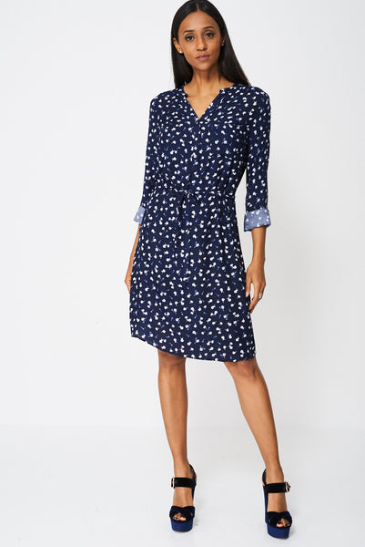Floral Shirt Dress Ex-Branded