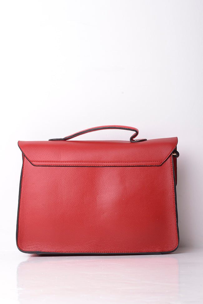 Red Front Design Smart Satchel Bag-Fabulous Bargains Galore