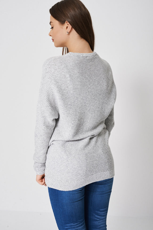 Long Jumper In Grey Ex-Branded-Fabulous Bargains Galore