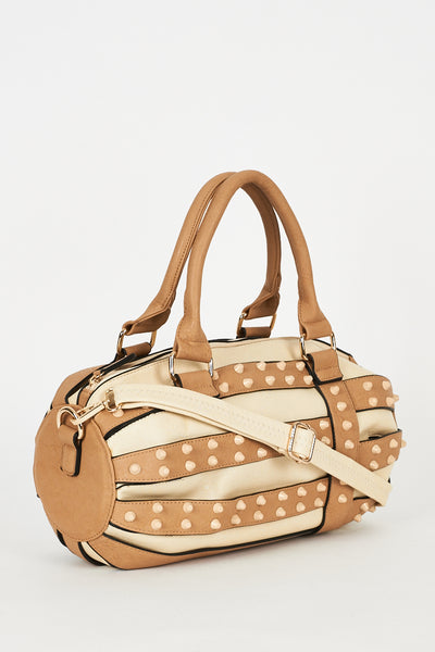Cream And Beige Handbag