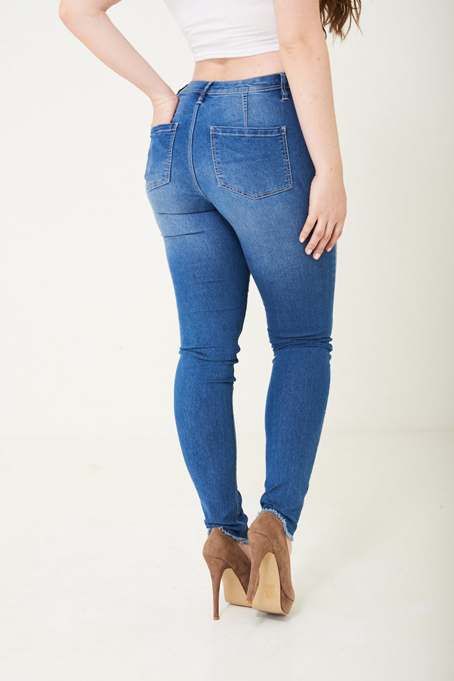 Blue High Waist Skinny Jegging-Fabulous Bargains Galore