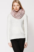 Fluffy Faux Fur Twisted Neck Snood Scarf-Fabulous Bargains Galore