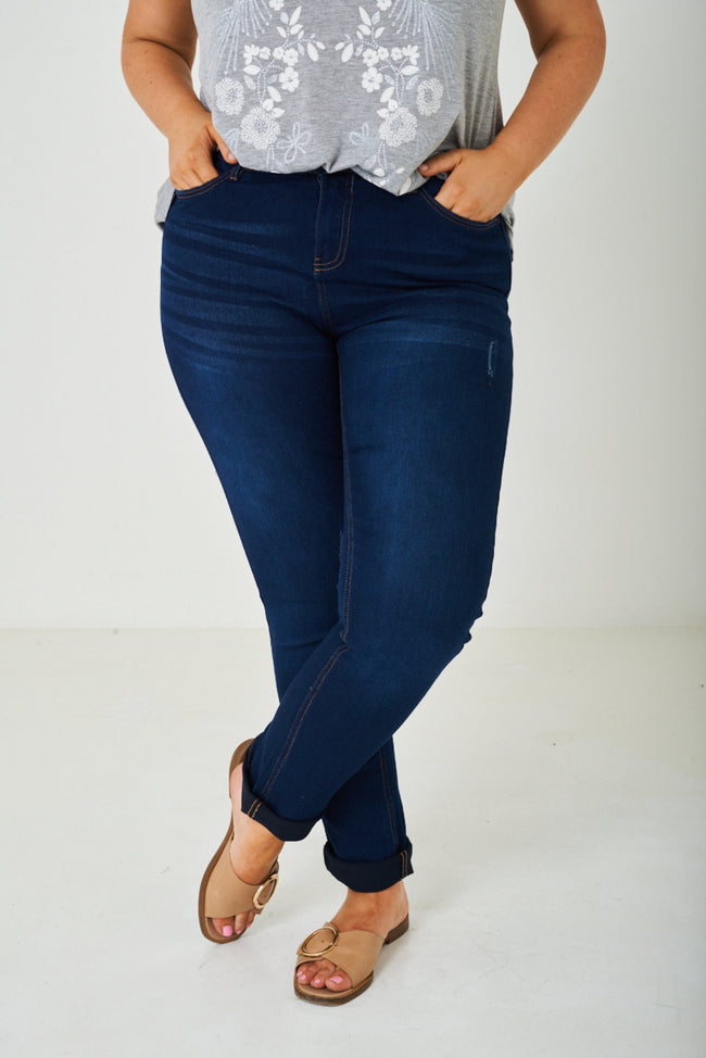 PLUS SIZE Slim Fit Blue Jean Ex Brand-Fabulous Bargains Galore