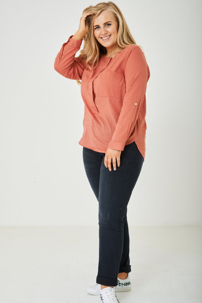 PLUS SIZE Pink Lightweight Shirt Ex Brand-Fabulous Bargains Galore
