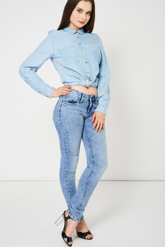 Blue Acid Wash Jeans Ex-Branded Available In Plus Sizes-Fabulous Bargains Galore