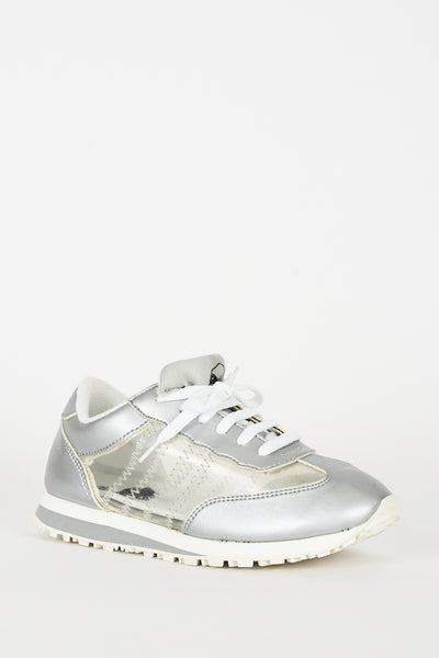 Silver Trainers With Perspex Details Ex-Branded