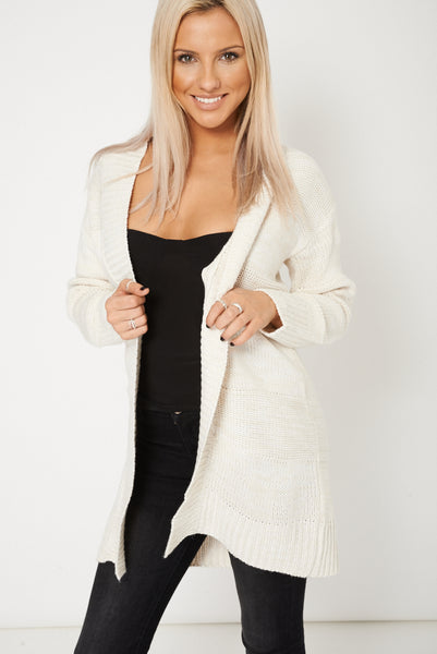 Longline Knit Open Cardigan