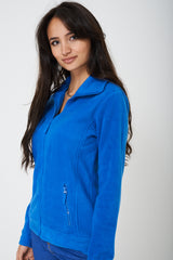 Blue Fleece Outdoor Jacket
