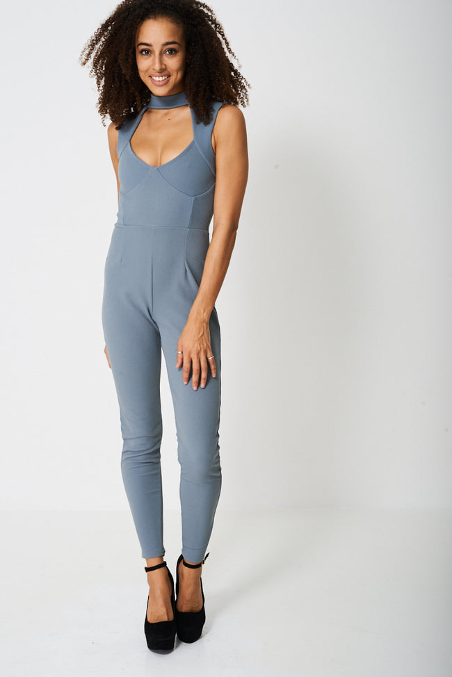Tall Choker Neck Jumpsuit Ex-Branded-Fabulous Bargains Galore