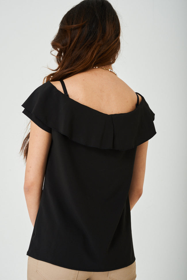 Black Off Shoulder Top-Fabulous Bargains Galore