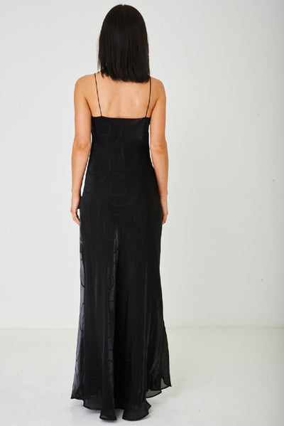 Fishtail Maxi Dress in Black