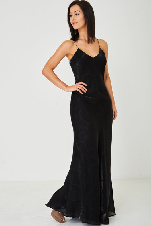 Fishtail Maxi Dress in Black-Fabulous Bargains Galore