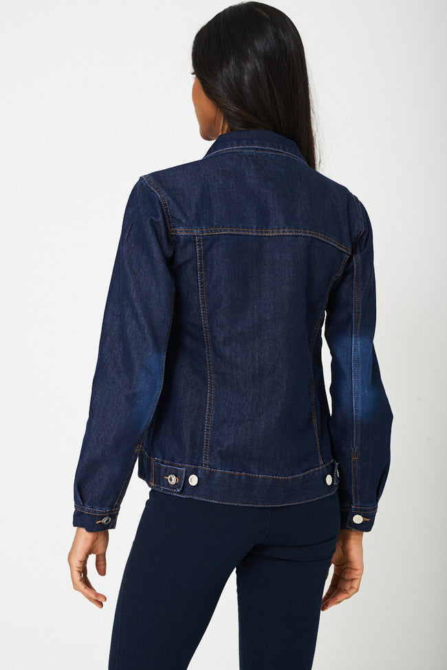 Denim Jacket In Navy Ex-Branded-Fabulous Bargains Galore