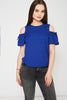 Blue Cold Shoulder Top Ex-Branded Available In Plus Sizes