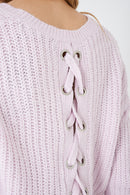 Cropped Knit Jumper in Pink-Fabulous Bargains Galore