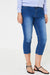 Crop Jeans in Washed Blue-Fabulous Bargains Galore