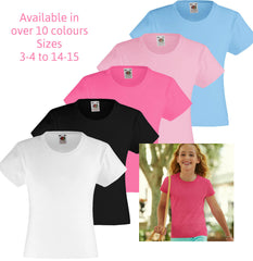 Girls Short Sleeves Plain T shirts