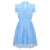Girls light blue party dress for 4-14 year olds-Fabulous Bargains Galore