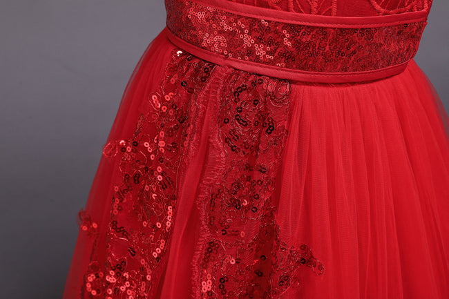 Girls red ball gown up to age 16 years-Fabulous Bargains Galore