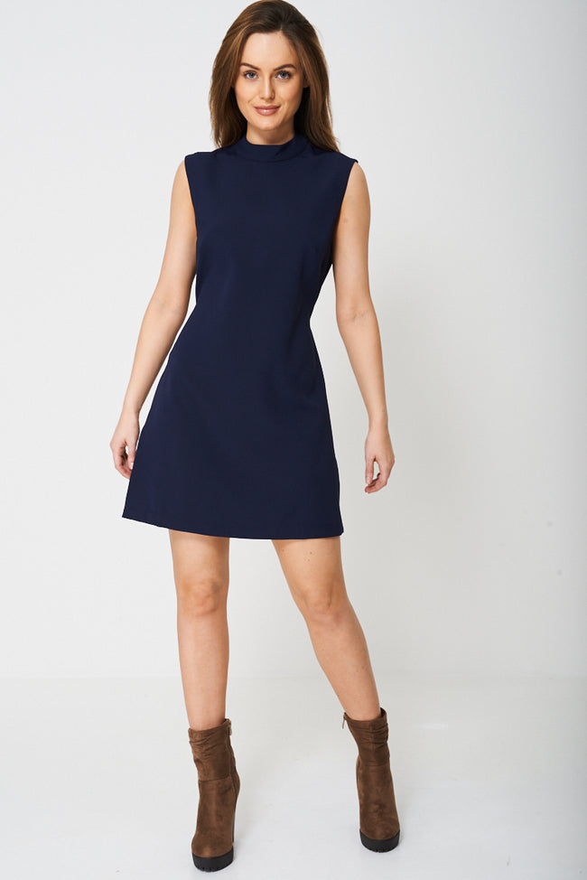 Sheath Dress in Navy Ex-Branded-Fabulous Bargains Galore