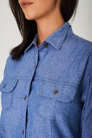 Longline Blue Shirt Ex Brand-Fabulous Bargains Galore