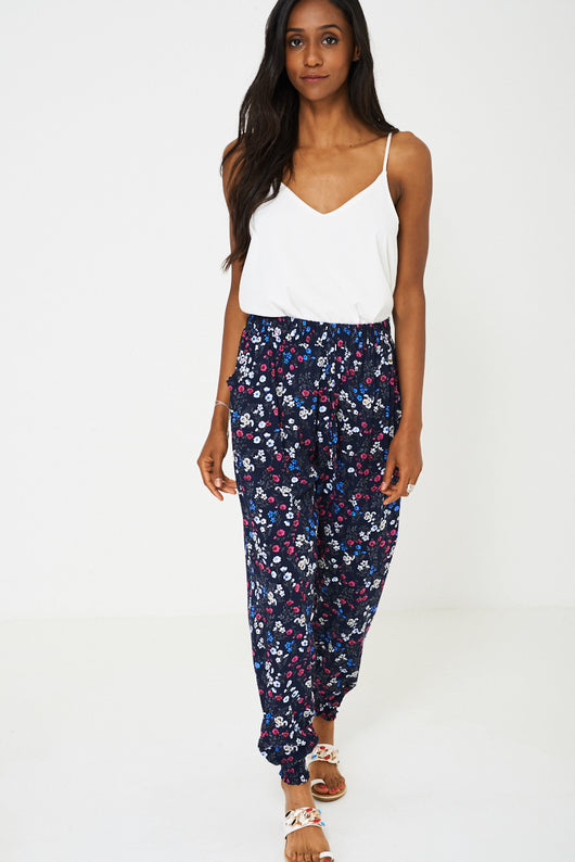 Floral Harem Trousers-Fabulous Bargains Galore