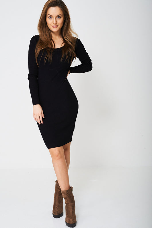 Lock Rib Bodycon Dress-Fabulous Bargains Galore
