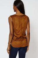 Faux Suede Hi Low Lace Up Side Top-Fabulous Bargains Galore