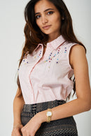 Pearl Embellished Top in Pink - Fabulous Bargains Galore