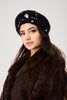 Embellished Black Beret