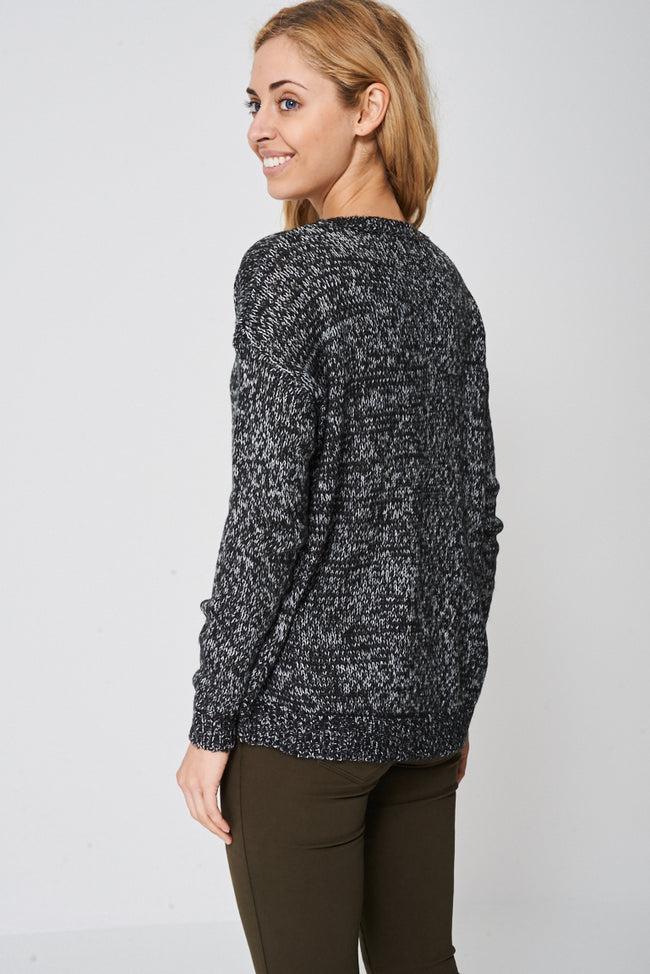 Loose Fit Multi Knit Jumper Ex-Branded-Fabulous Bargains Galore