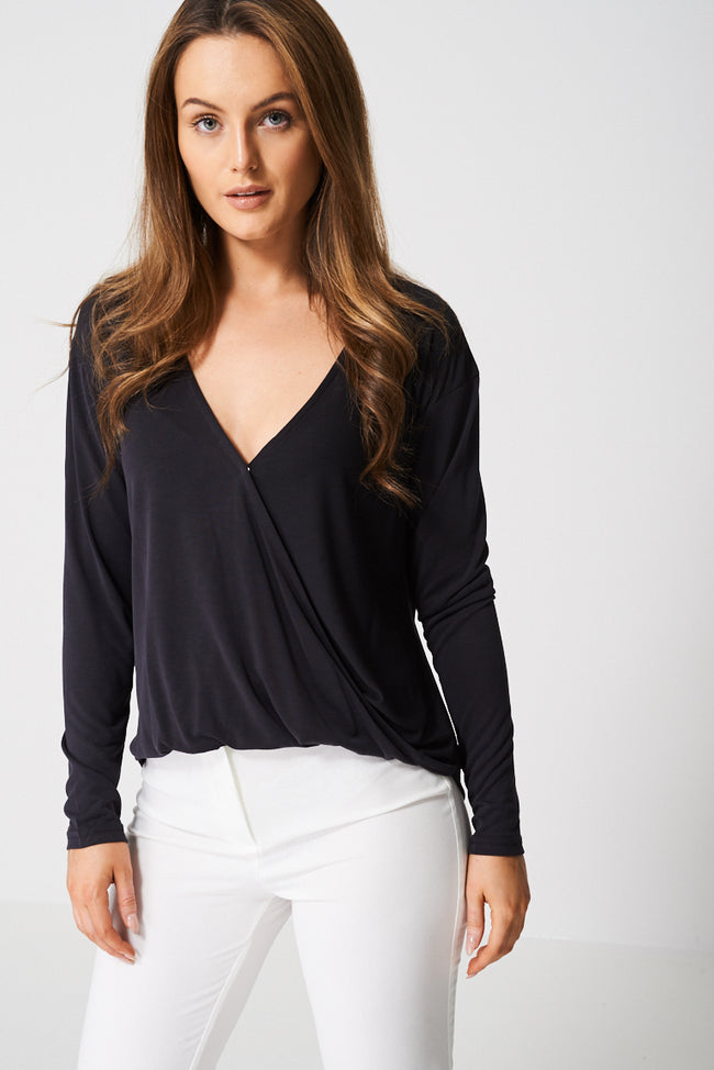 Drape Crossover Top Ex-Branded-Fabulous Bargains Galore