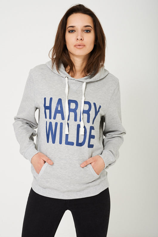 Harry Wilde Unisex Hoodie in Grey-Fabulous Bargains Galore