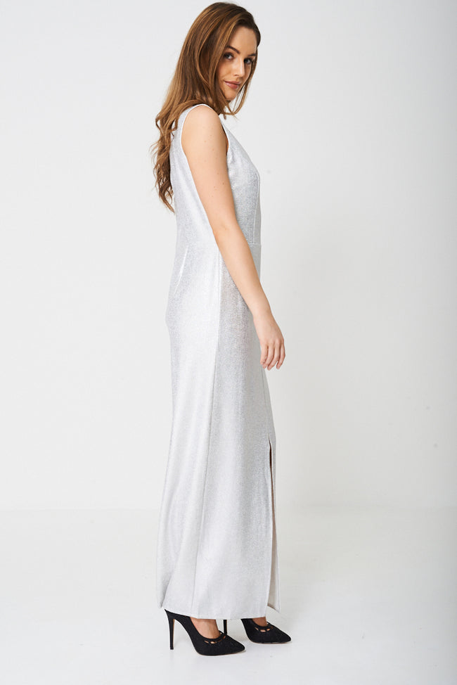 Maxi Dress in Glitter Finish Ex-Branded-Fabulous Bargains Galore