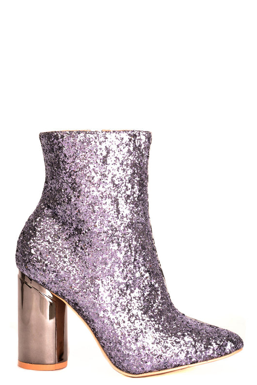 Two Faced Glitter Ankle Boots in Silver-Fabulous Bargains Galore