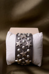 Vintage Inspired Leather Stars and Studs Bangle