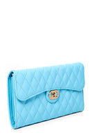 Quilted Crossbody Going Out Purse in Blue-Fabulous Bargains Galore