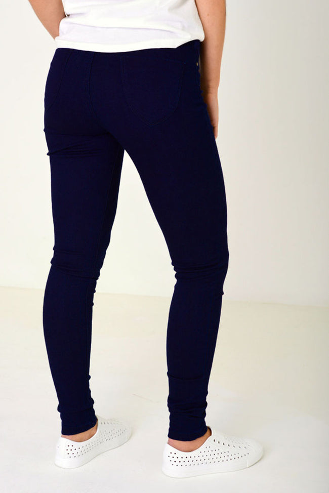 Super Skinny Jegging in Navy Ex Brand-Fabulous Bargains Galore