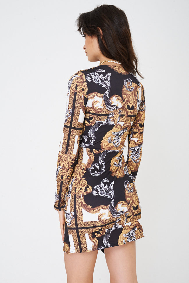 Baroque Print Versace Inspired Dress Ex Brand-Fabulous Bargains Galore