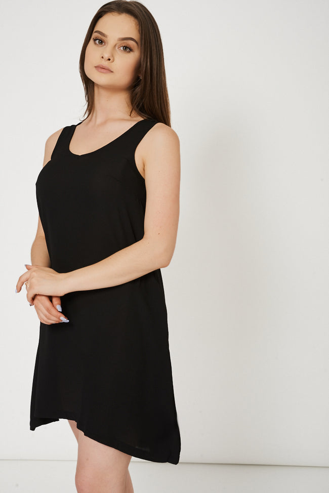 Black Dress With Side Pockets-Fabulous Bargains Galore