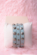 Vintage Inspired Leather Embellished Bracelet - Fabulous Bargains Galore