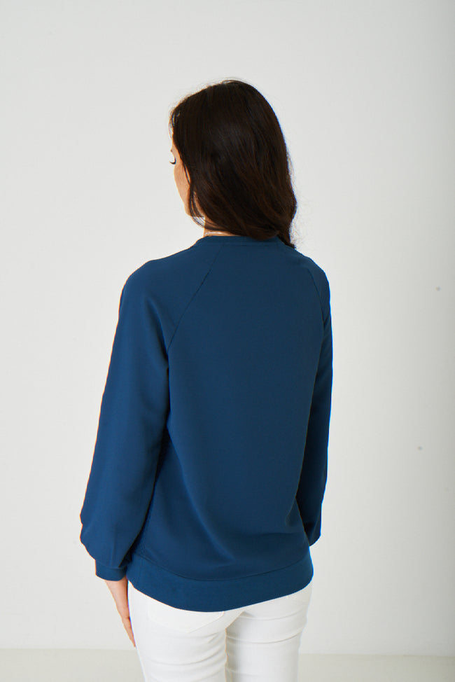 Quilted Blue Jumper-Fabulous Bargains Galore