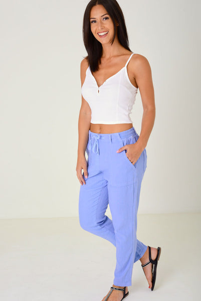 Blue Summer Trousers Ex Brand