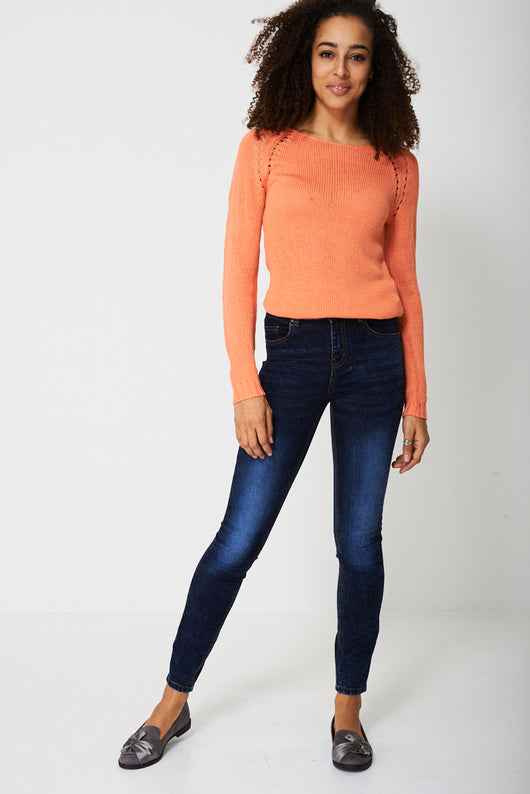 Skinny Jeans In Dark Wash Blue Ex-Branded-Fabulous Bargains Galore