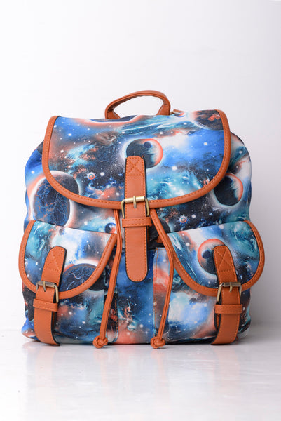Galaxy Print Backpack
