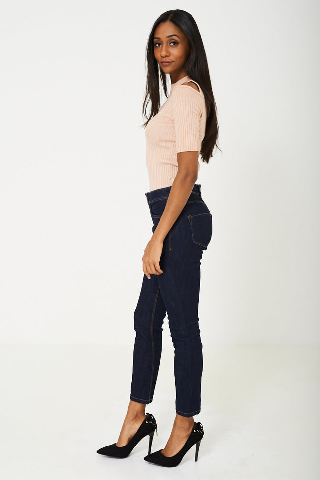 REGULAR Dark Navy Cropped Jeans Ex Branded-Fabulous Bargains Galore