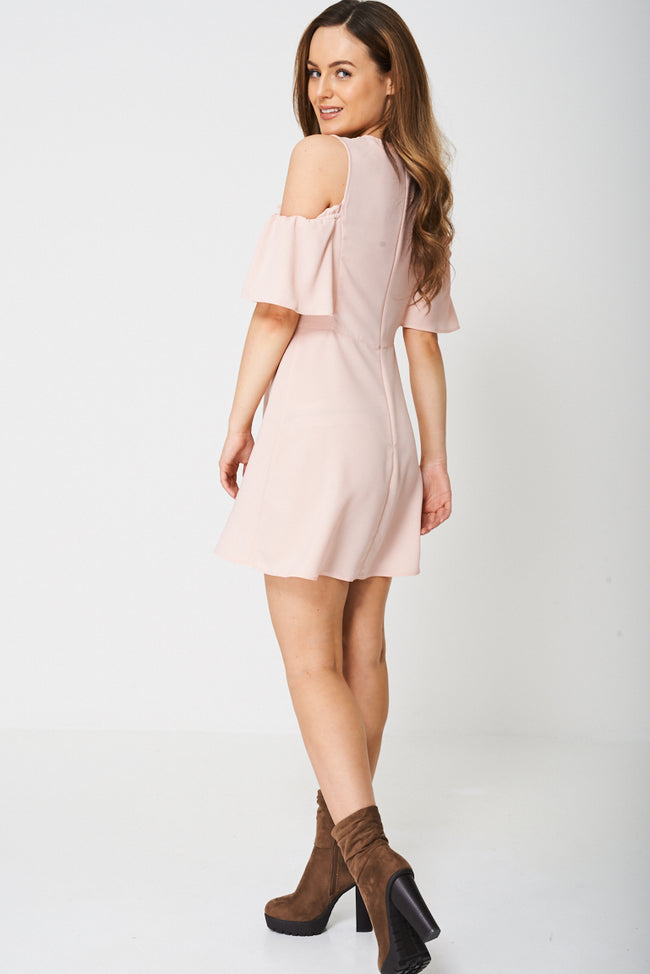 Cold Shoulder Shift Dress Ex-Branded-Fabulous Bargains Galore