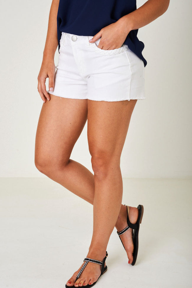 Off White Denim Shorts-Fabulous Bargains Galore